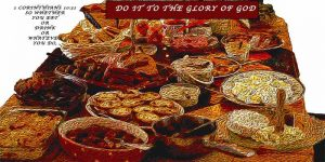 A picture represent a feast. As the one who prepared it gave their very best, for Christmas to Glorify God